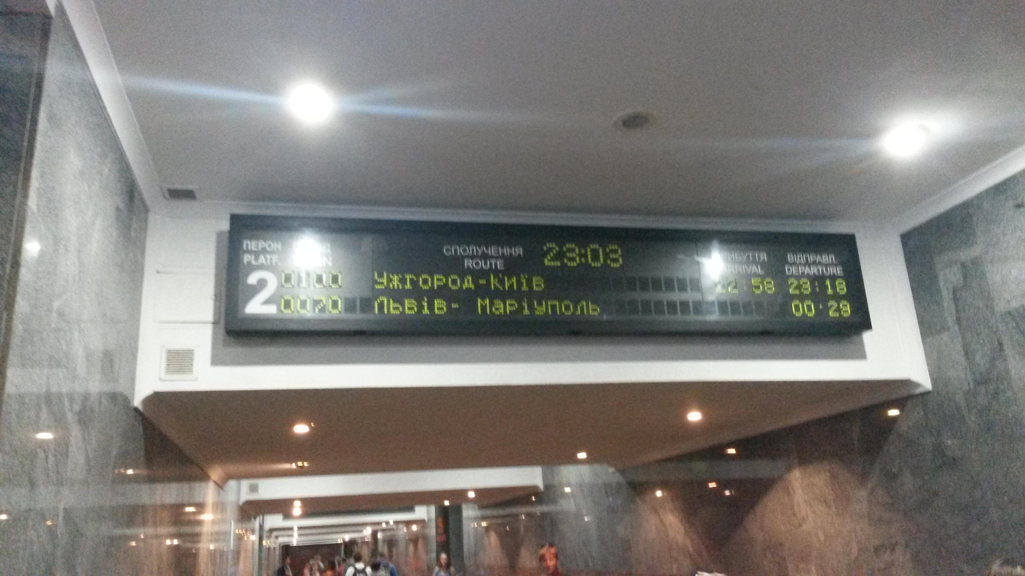 Uzhorod-Kyiv Treni