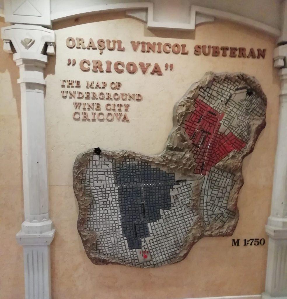 Cricova yer altı şehri haritası